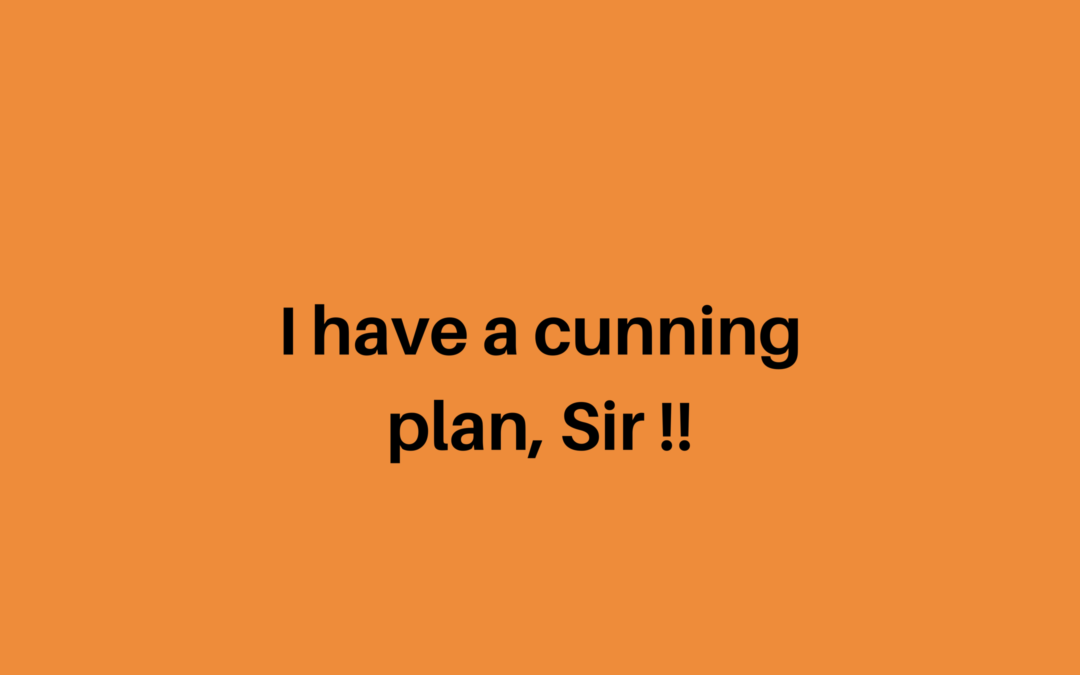 Do You Have A Cunning Plan!!